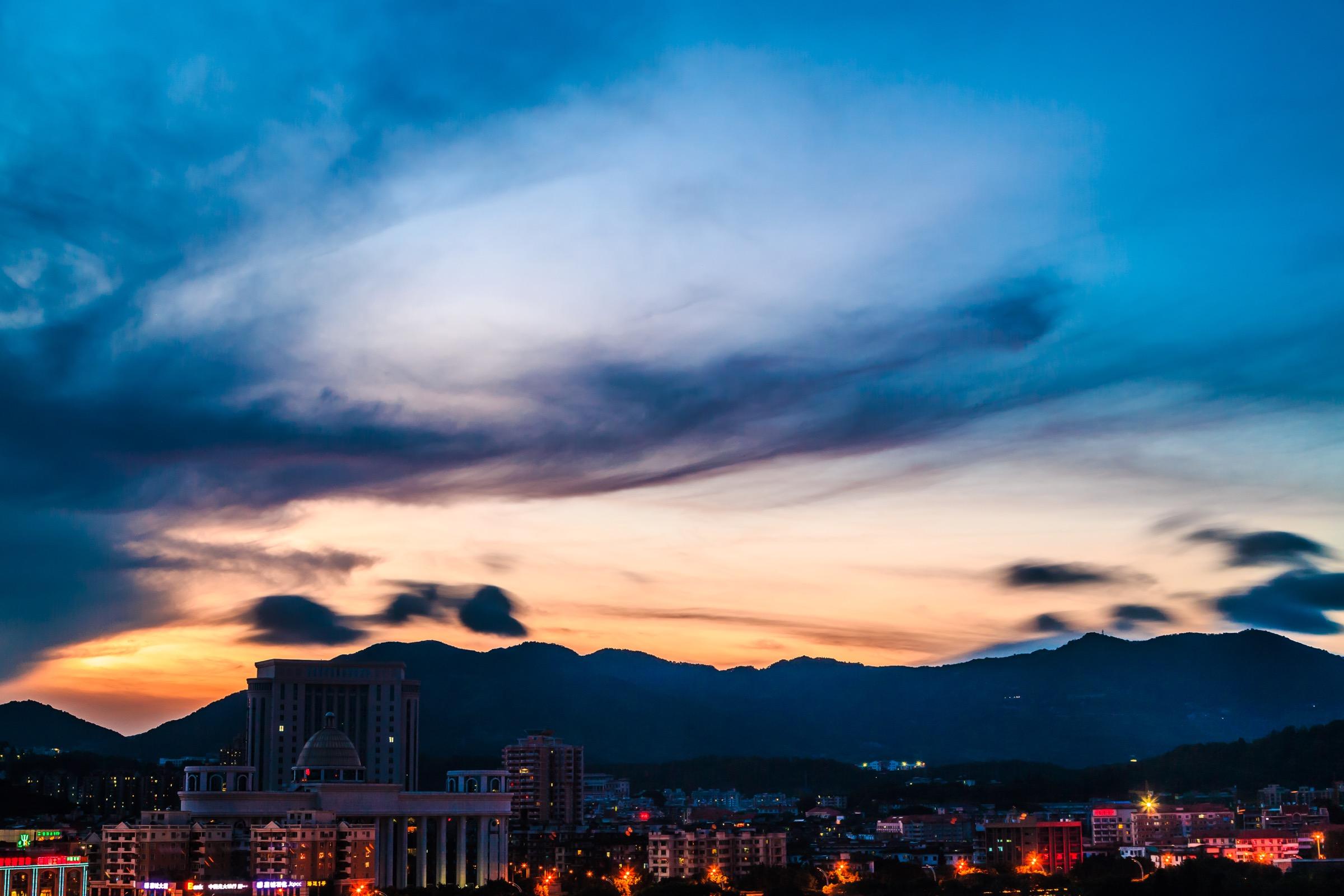 20140719 摄于福州九龙山庄 北面风景